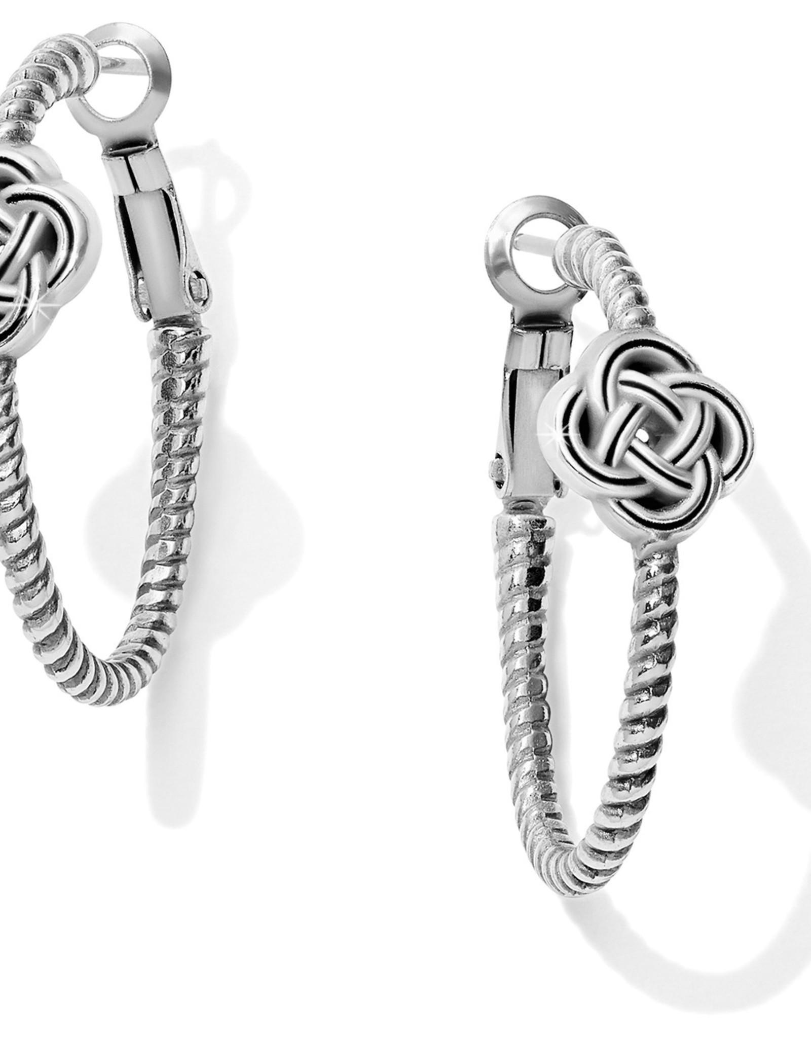 Brighton Brighton Earrings Interlok Knot Rope Hoop