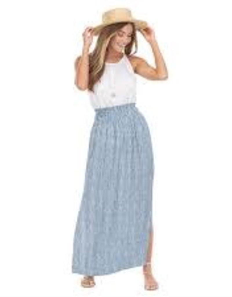 MudPie MudPie Bri Maxi Skirt- Blue Stripe