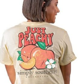 Simply Southern Simply Southern Just Peachy Tshirt
