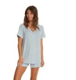 Barefoot Dreams Barefoot Dreams Piped PJ Set- Short Sleeve and Boxer