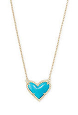 Kendra Scott Kendra Scott Ari Heart Necklace Gold & Turquoise