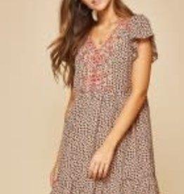 AndreByUnit Savannah Jane- Mocha Leopard Dress