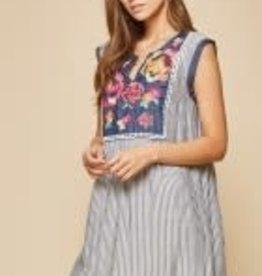 AndreByUnit Savannah Jane- Denim Stripe Dress