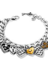 Brighton Brighton Bracelet One Heart Charm Silver-Gold