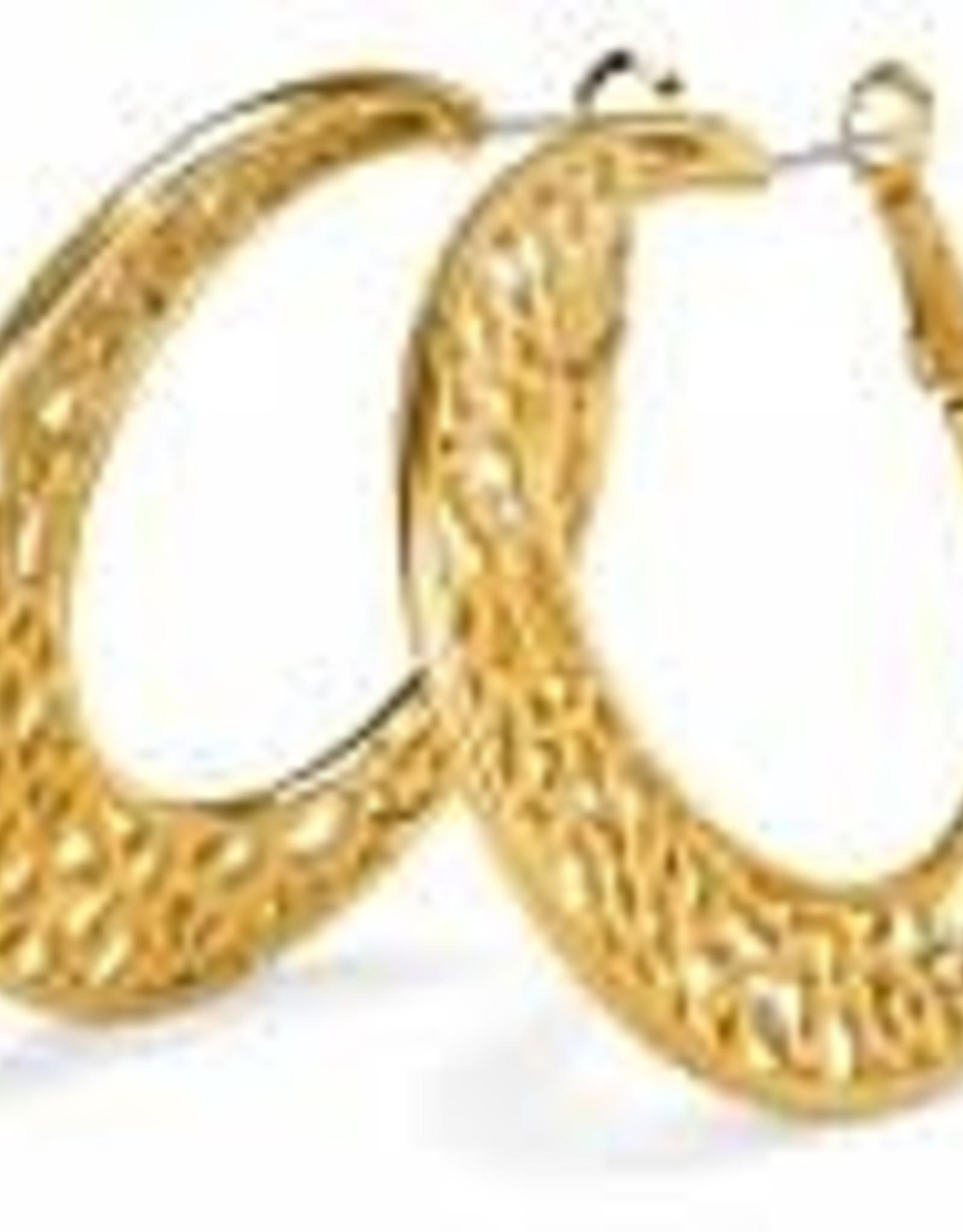 Brighton Brighton Earrings Fiji Sparkle Hoop Gold