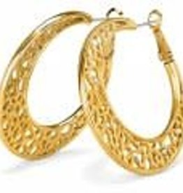 Brighton Brighton Earrings Fiji Sparkle Hoop Gold