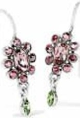 Brighton Brighton Earrings Trust Your Journey Garden French Wire Silver-Pink Multi