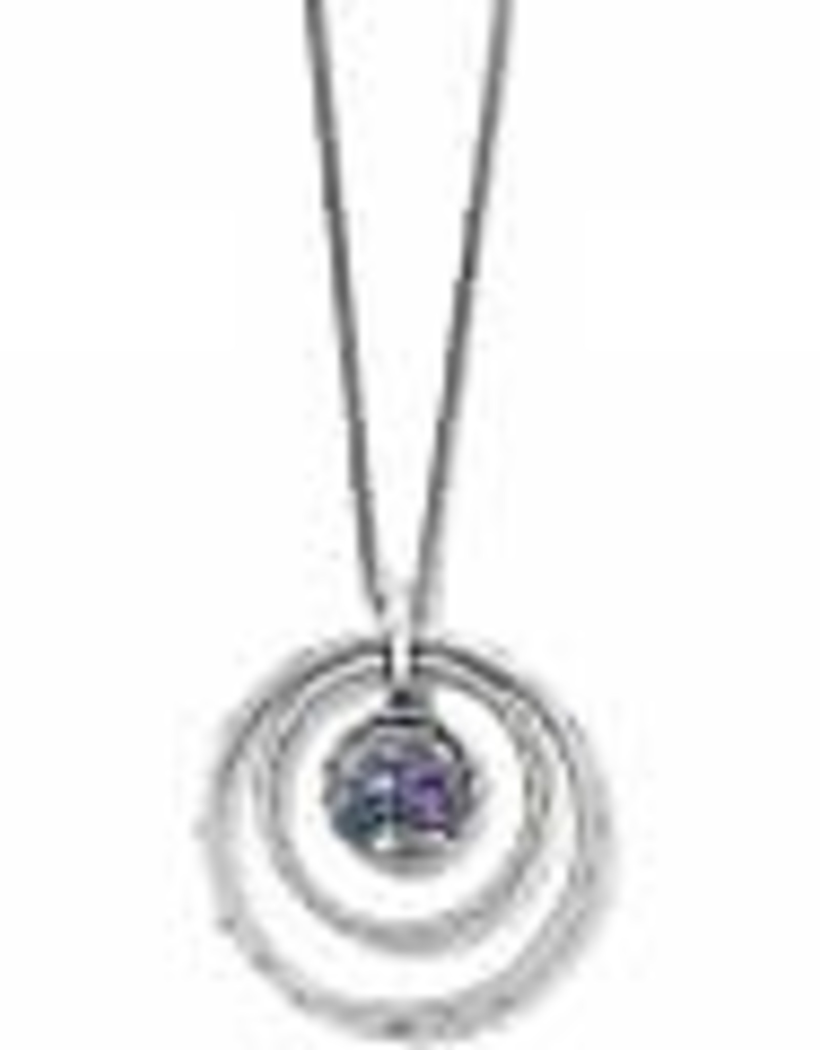 Brighton Brighton Necklace Halo Tauri Silver-Tanzanite