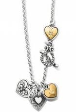 Brighton Brighton Necklace One Heart Short Silver-Gold