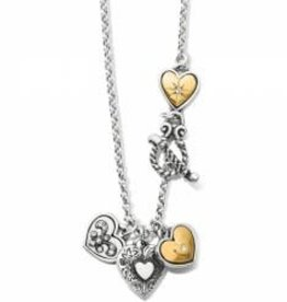 Brighton Brighton Necklace One Heart Short Silver-Gold