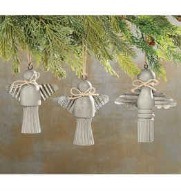 MudPie MudPie Ornament Tin Wood Angel