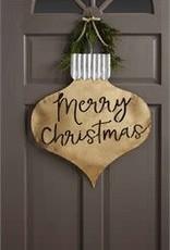 MudPie MudPie Door Hanger- Merry Christmas