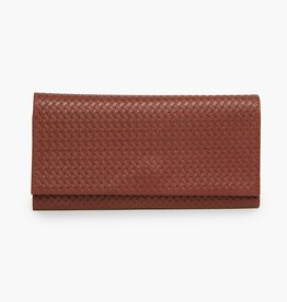 FashionABLE FashionABLE Debre Wallet- Embossed Whiskey