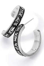 Brighton Brighton Earrings Moonlight Garden Hoop  Silver OS