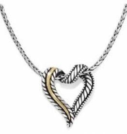 Brighton Brighton Necklace Callie 2-Tone Heart  silver
