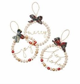 MudPie MudPie Beaded Sentiment Ornament