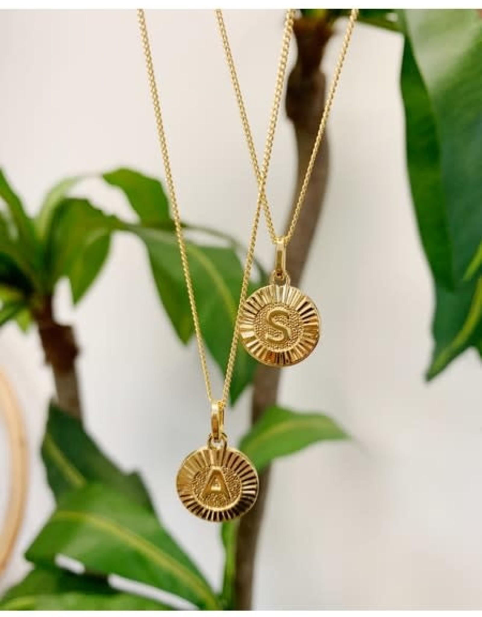 Bracha Bracha Medallion Initial Necklace