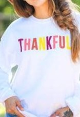 The Light Blonde Sweatshirt- THANKFUL