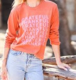 The Light Blonde Long Sleeve Tshirt- Thankful Grateful