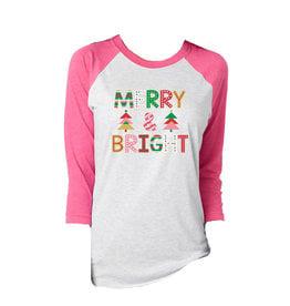 Jane Marie Jane Marie 3/4 Sleeve Tshirt- Merry & Bright