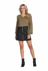 MudPie MudPie Fitz Button Front Skirt