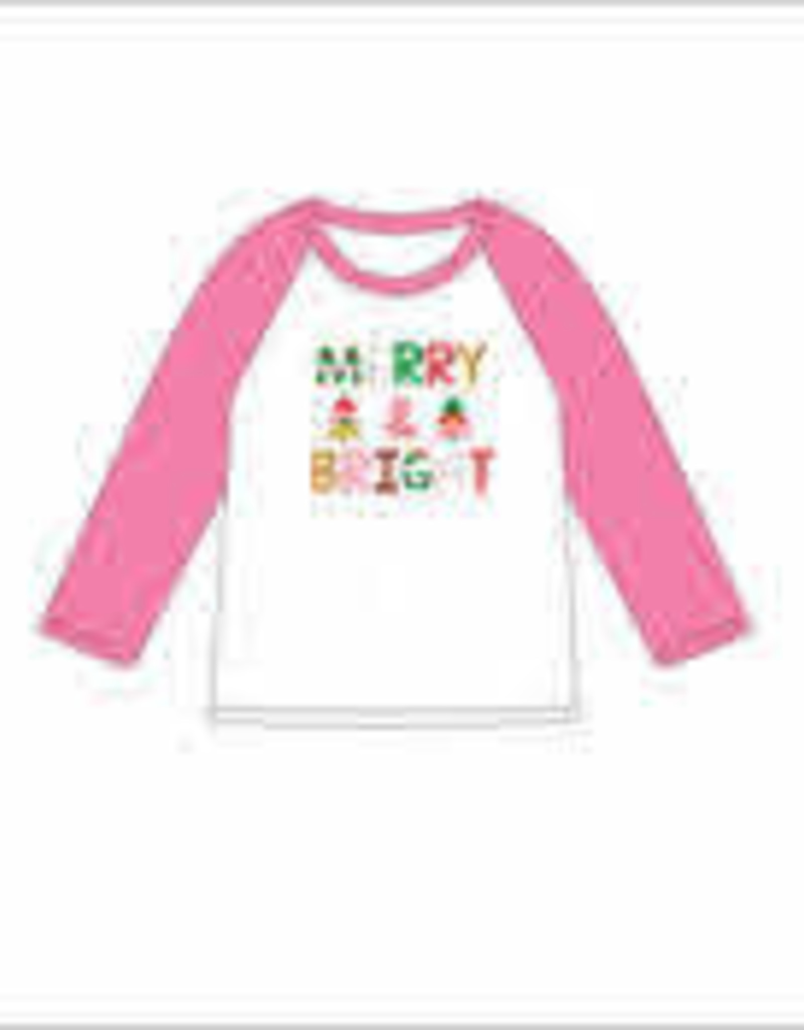 Jane Marie Jane Marie KIDS 3/4 Sleeve Tshirt- Merry & Bright