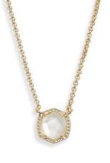 Kendra Scott Kendra Scott Davie Short Pendant Necklace GLD/Ivory MOP