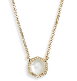 Kendra Scott Kendra Scott Davie Short Pendant Necklace GLD/Ivory MOP