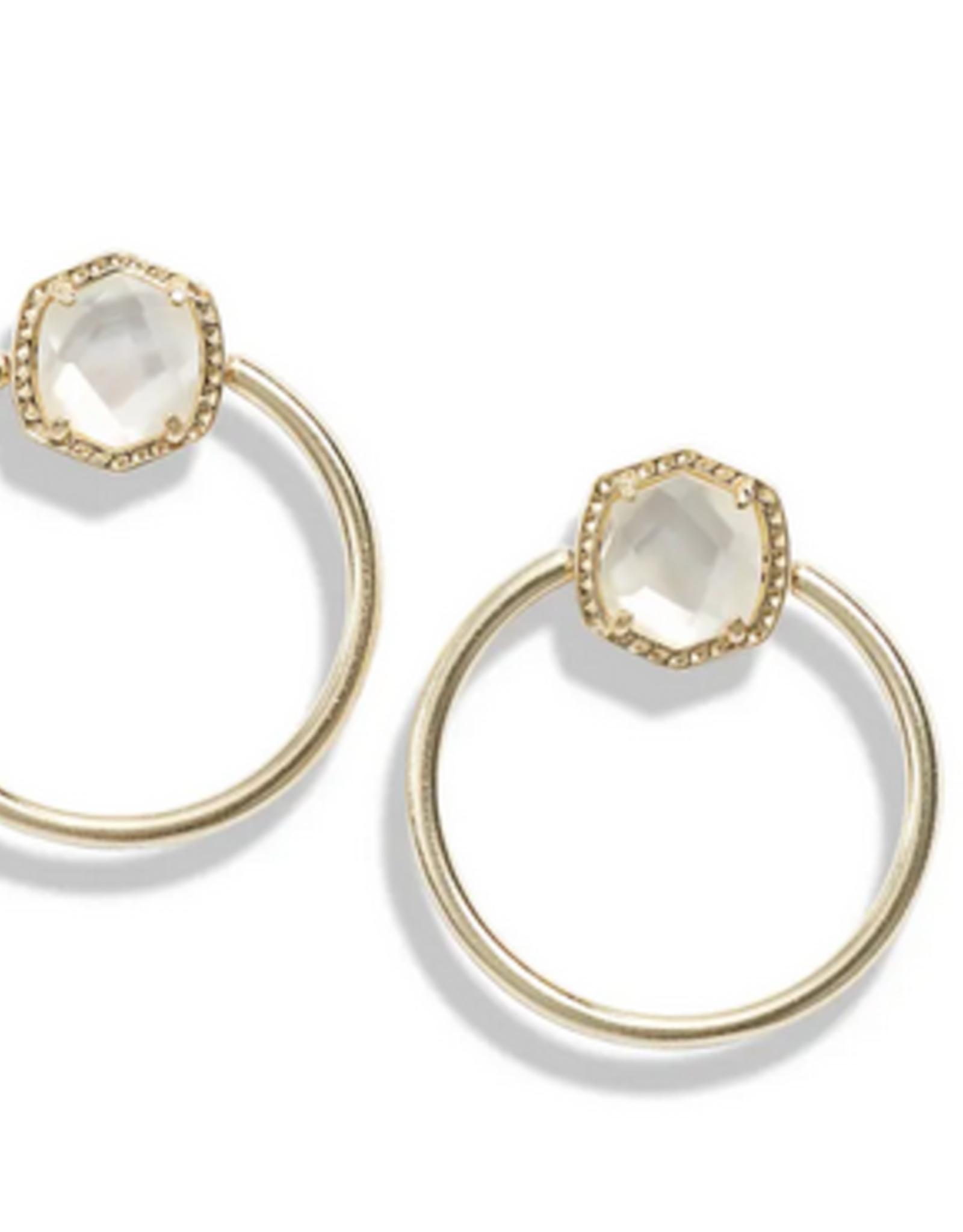 Kendra Scott Kendra Scott Davie Hoop Earrings Gold/Ivory MOP