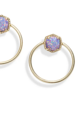Kendra Scott Kendra Scott Davie Hoop Earrings Gold/Lavender Opal