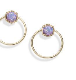 Kendra Scott Kendra Scott Davie Hoop Earrings Gold/Lavender Opal