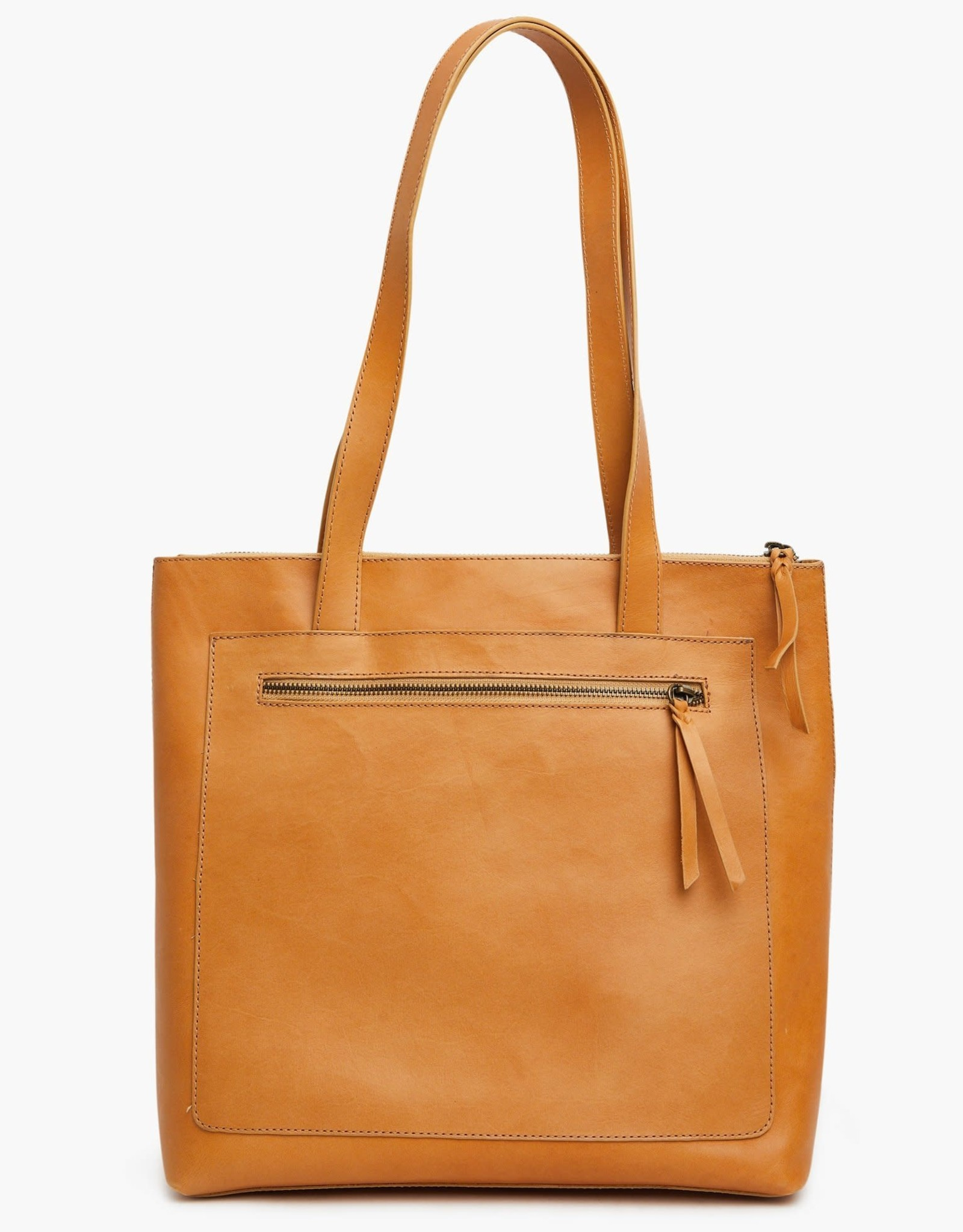 FashionABLE ABLE Elvia Top Zip Tote-Cognac