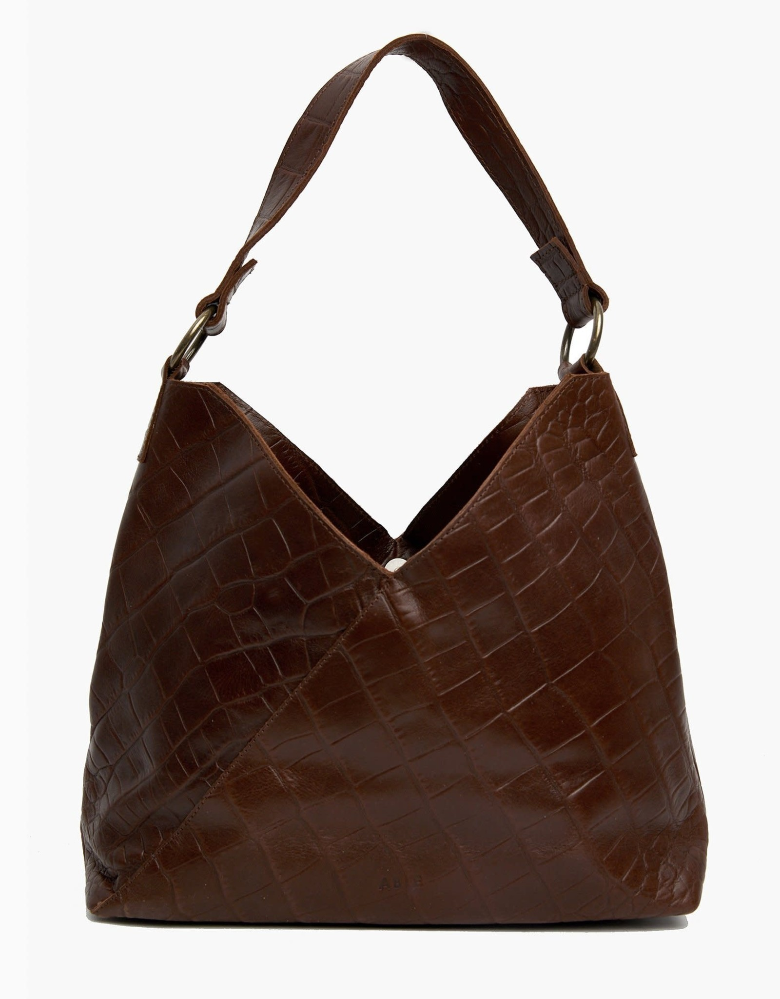 FashionABLE ABLE Solome Shoulderbag- Chocolate Croco