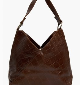 FashionABLE ABLE Solome Shoulderbag- Chocolate Croco