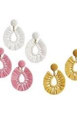MudPie MudPie Raffia Earrings