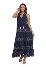 MudPie MudPie Gisele Embroidered Maxi Dress