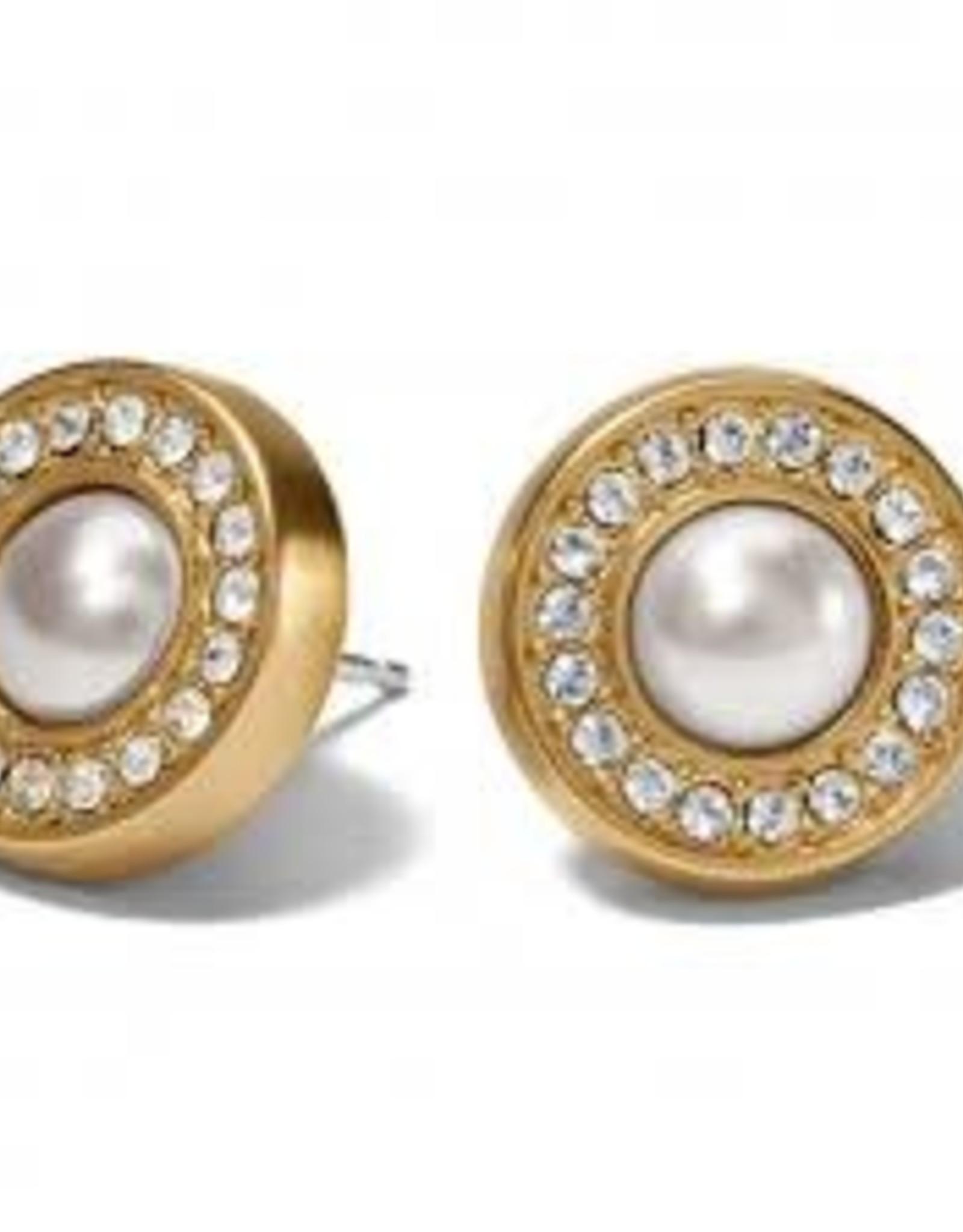 Brighton Brighton Meridian Pearl Post Earrings Gold