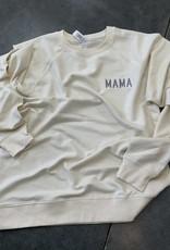 Mama Embroidered Sweatshirt- Bone