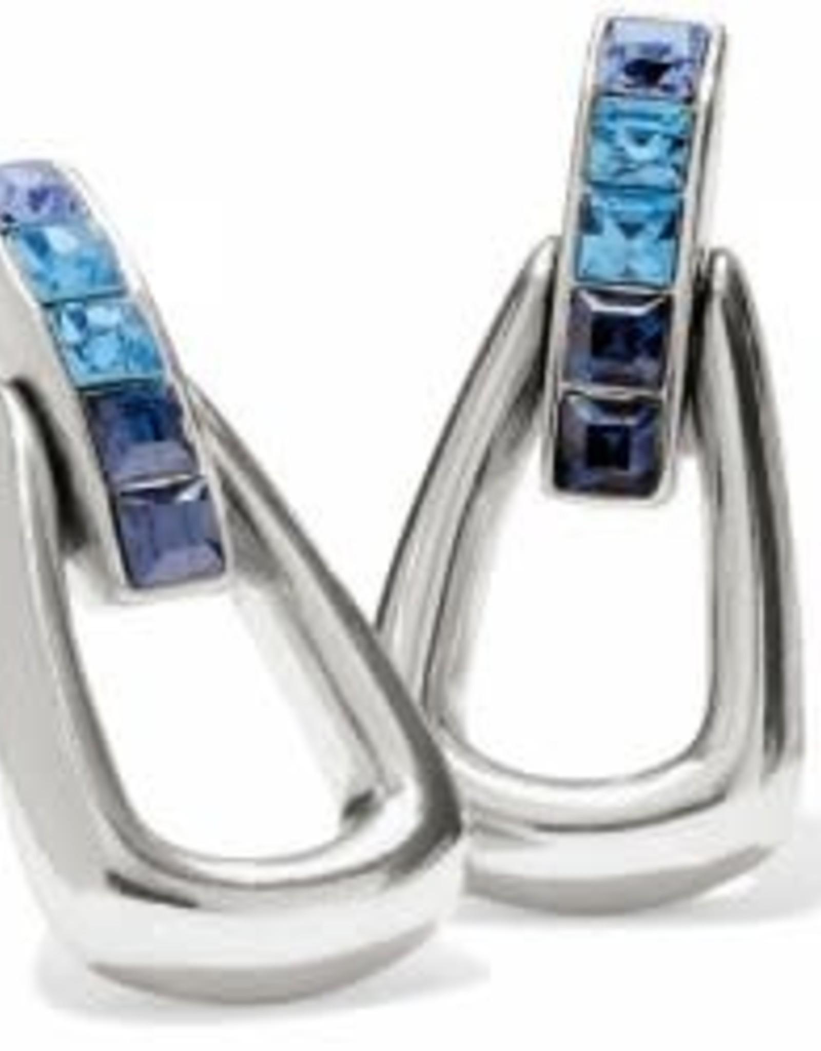 Brighton Brighton Earrings Spectrum Loop Post Drop Silver-Blue