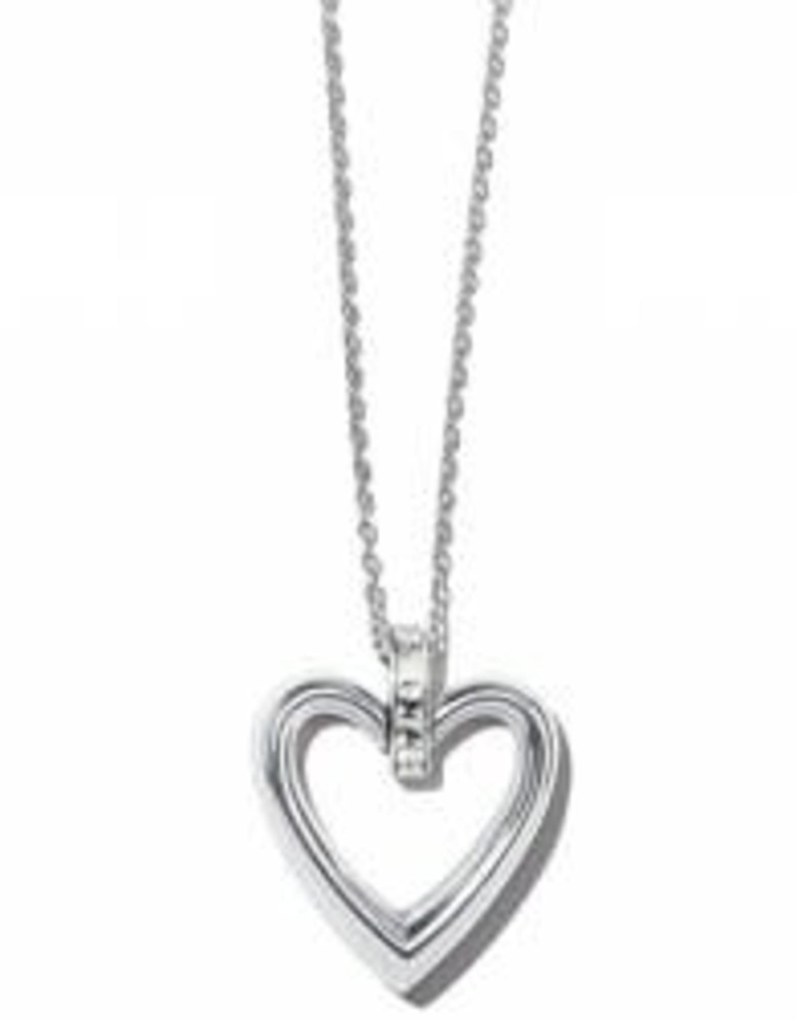 Brighton Brighton Necklace Spectrum Open Heart- Clear