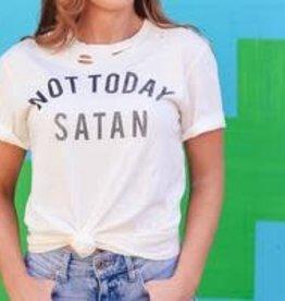 The Light Blonde Vintage Tshirt- Not Today Satan