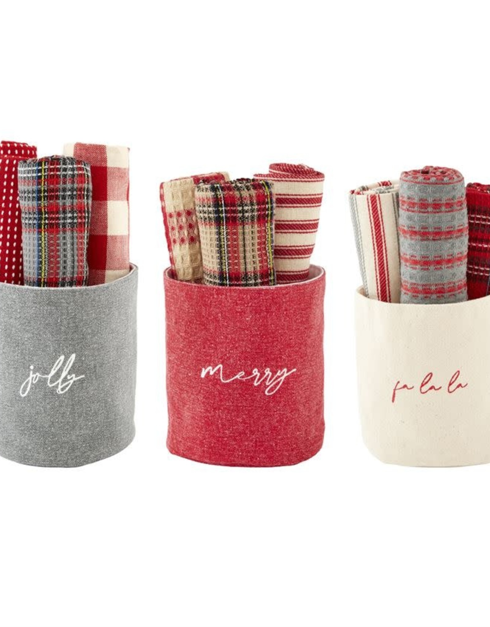 MudPie MudPie Tartan Towel Set