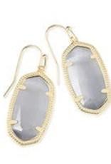 Kendra Scott KENDRA SCOTT Earrings Dani Gold/Slate Cat's Eye