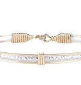 Ronaldo Ronaldo Bracelet-Silver bar with Gold wire Katbird