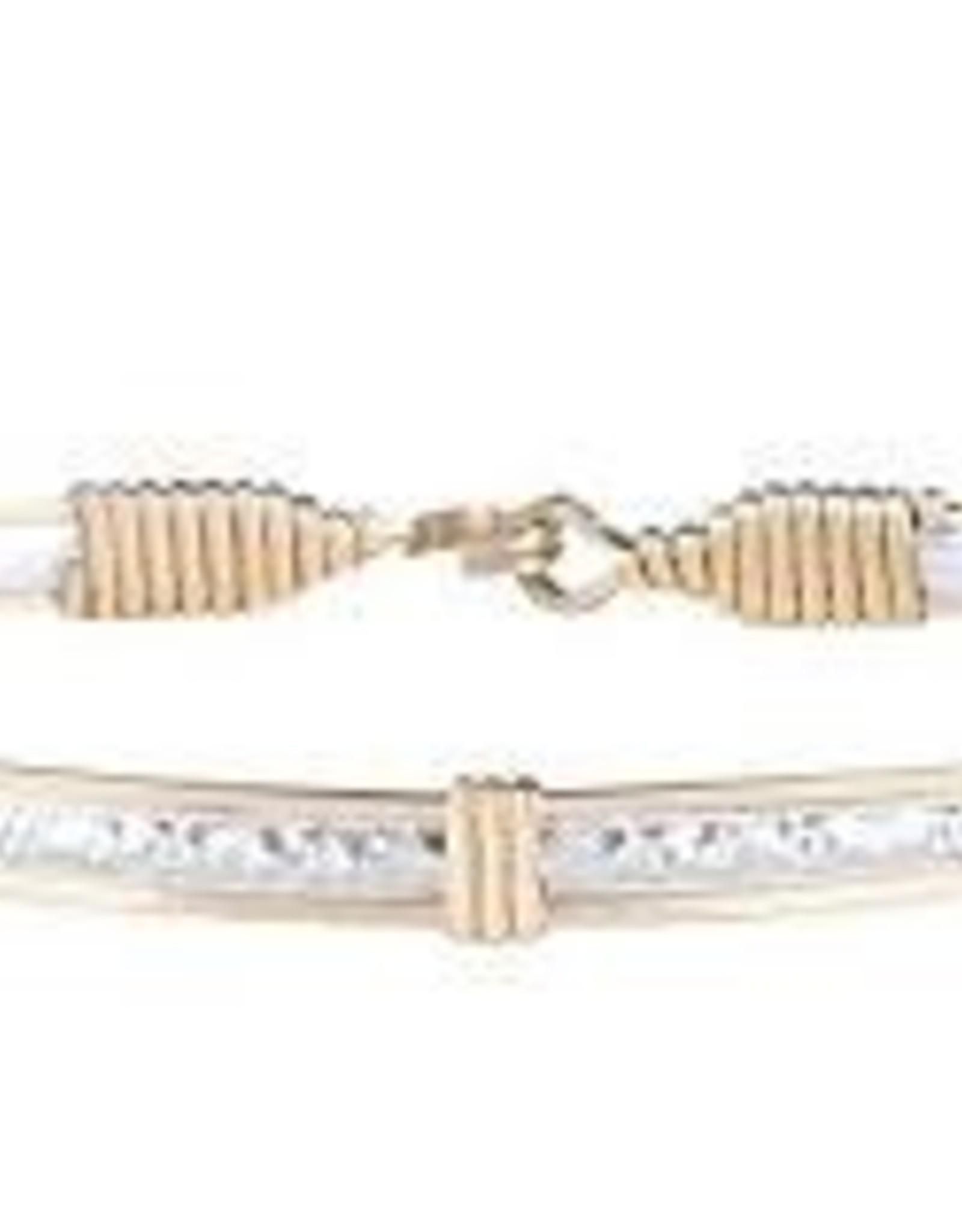 Ronaldo Ronaldo Bracelet-Silver bar with Gold wire Katbird