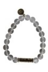 Penny Lane- Breathe Love Bead Bracelet (Clear)