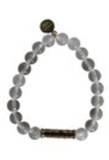 Studio Penny Lane Penny Lane- Breathe Love Bead Bracelet (Clear)