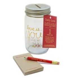 Penny Lane- Daily Love Note (Mason Jar Set)