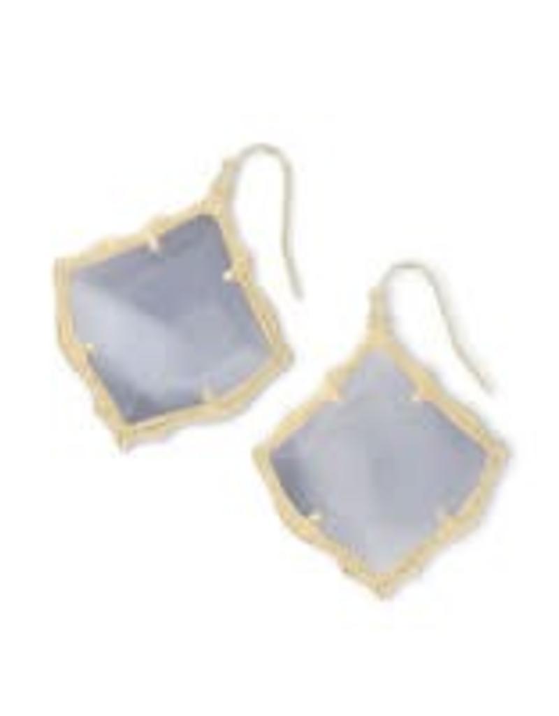 Kendra Scott KENDRA SCOTT Earring Kirsten Gold Slate Cats Eye