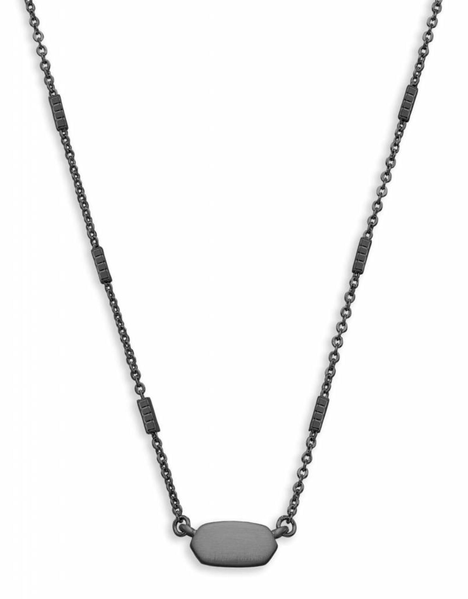 Kendra Scott KENDRA SCOTT Necklace Fern- Gun Metal
